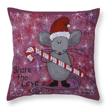 Max The Mouse Throw Pillow