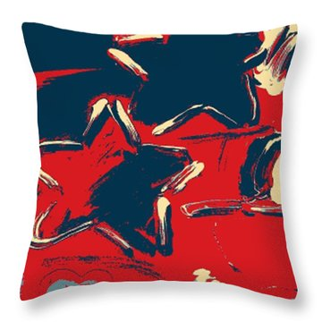 Max Two Stars In Hope Throw Pillow by Rob Hans