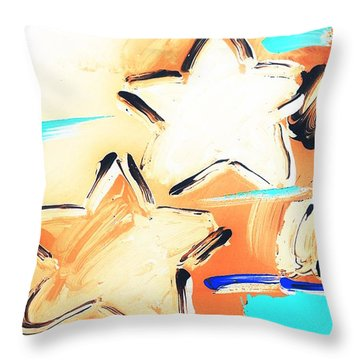 Max Two Stars In Inverted Colors Throw Pillow by Rob Hans
