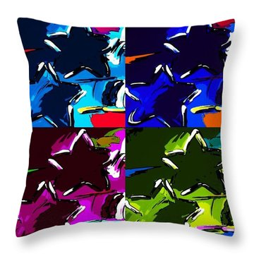 Max Two Stars In Pf Quad Colors Throw Pillow by Rob Hans