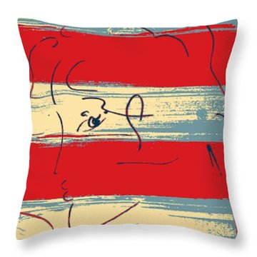 Max Woman In Hope Throw Pillow by Rob Hans