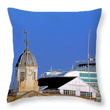 Maxims Casino Town Quay And Ventura Throw Pillow by Terri Waters