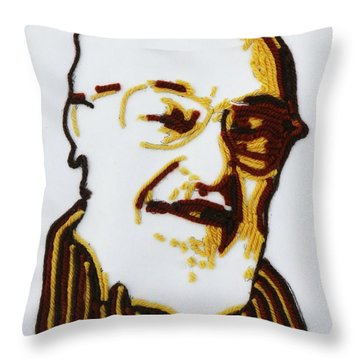 Max's Portrait Throw Pillow by PainterArtist FINs husband Maestro