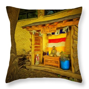 May All Beings Be Free From Suffering Throw Pillow