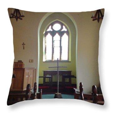 Throw Pillow featuring the photograph May Hill Church by John Williams