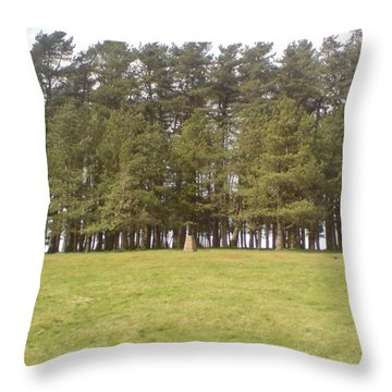 Throw Pillow featuring the photograph May Hill Tree Tops by John Williams