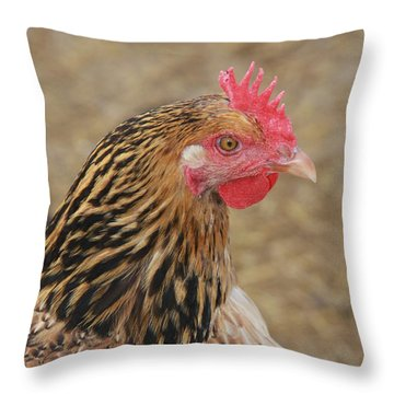 Throw Pillow featuring the photograph May I Help You? by Vadim Levin