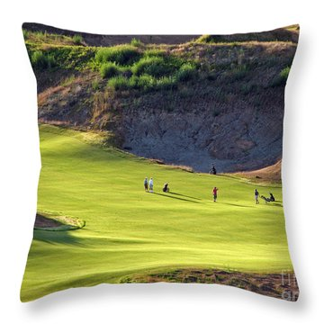 May I Play Through? - Chambers Bay Golf Course Throw Pillow