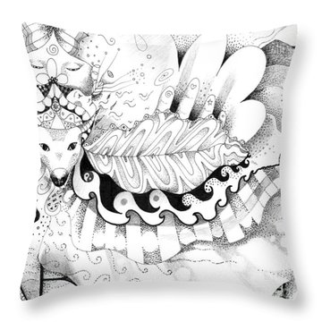 May Love With Wisdom Prevail Throw Pillow by Helena Tiainen