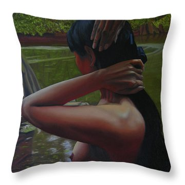 May Morning Arkansas River 6 Throw Pillow