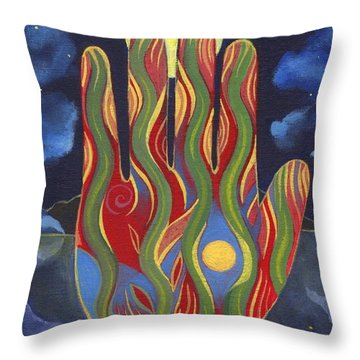 May Nature Support You Throw Pillow