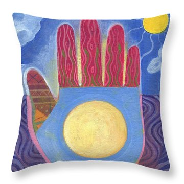 May Peace Prevail Throw Pillow by Helena Tiainen
