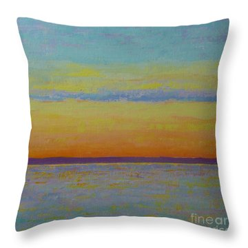 May Sunset Throw Pillow by Gail Kent