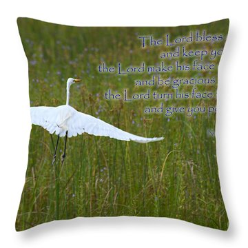 May The Lord Bless You Throw Pillow
