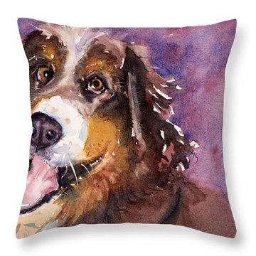 May The Mountain Dog Throw Pillow