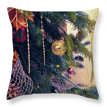 Throw Pillow featuring the photograph May Your Days Be Merry And Bright by John Rivera