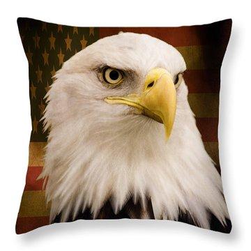 May Your Heart Soar Like An Eagle Throw Pillow by Jordan Blackstone