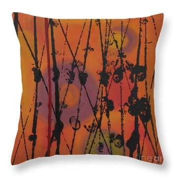 Throw Pillow featuring the painting Maya 1 by Mini Arora