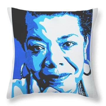 Maya Angelou Throw Pillow