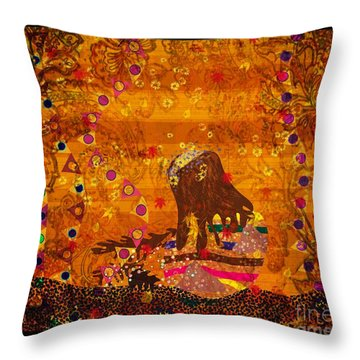 Maya Pays Again Throw Pillow by Kim Prowse