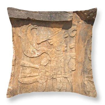 Mayan Frieze Throw Pillow by Cindy Lee Longhini
