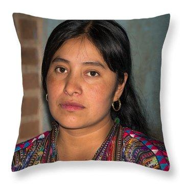 Mayan Girl Throw Pillow