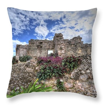 Throw Pillow featuring the photograph Mayan Ruin At Tulum by Jaki Miller