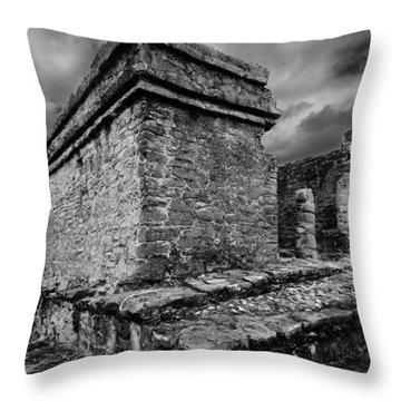Mayan Ruin Throw Pillow