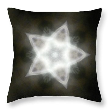 Mayan Star Throw Pillow by Lisa Lipsett