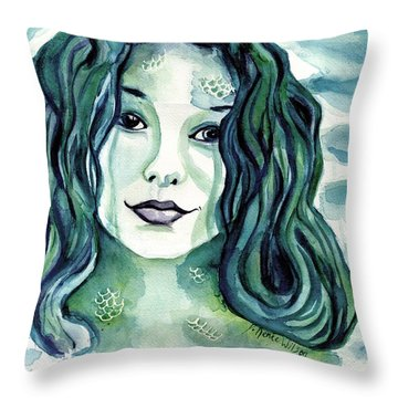 Maybe I'm A Mermaid Throw Pillow