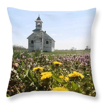 Mayflower Church Throw Pillow