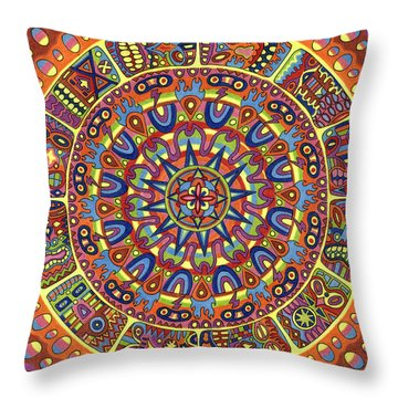Mayhem Tikis Throw Pillow by Chris  Rolling