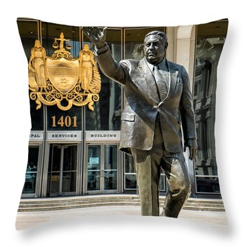 Mayor Frank L. Rizzo Monument Throw Pillow