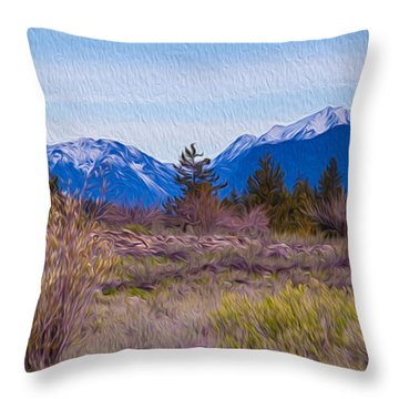 Throw Pillow featuring the photograph Mazama From Wolf Creek by Omaste Witkowski