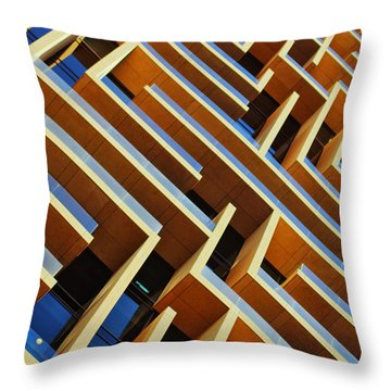 Throw Pillow featuring the photograph Maze Building Dubai by John Swartz