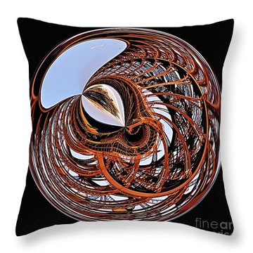 Maze Of Steel Throw Pillow by Kaye Menner
