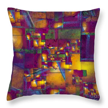 Maze Of The Heart Throw Pillow by Carol Jacobs