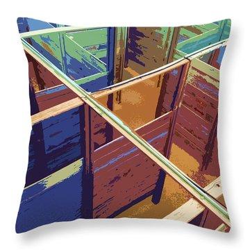 Labirinto Throw Pillow by Julio Lopez