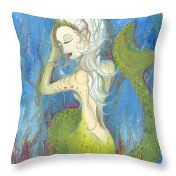 Mazzy The Mermaid Princess Throw Pillow