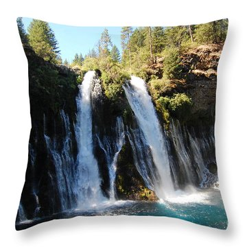 Throw Pillow featuring the photograph Mcarthur-burney Falls 1 by Debra Thompson