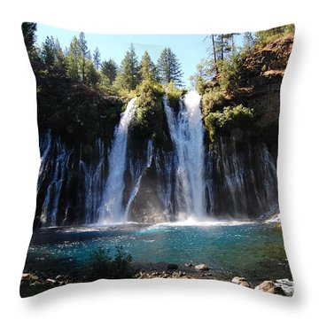 Throw Pillow featuring the photograph Mcarthur-burney Falls 2 by Debra Thompson
