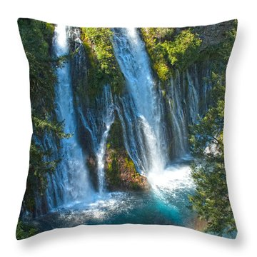 Mcarthur-burney Falls 3 Throw Pillow