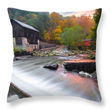 Mcconnell's Mill Fall  Throw Pillow