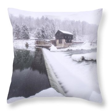 Mcconnell's Mill Winter  Throw Pillow