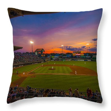 Mccoy Stadium Sunset Throw Pillow by Tom Gort