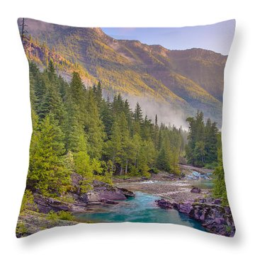 Mcdonald Creek Throw Pillow