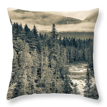 Mcdonald Creek Horizontal Throw Pillow