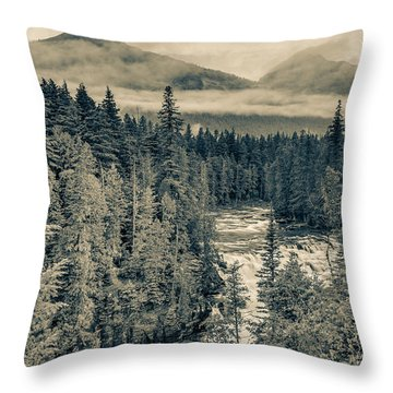 Mcdonald Creek Vertical Throw Pillow