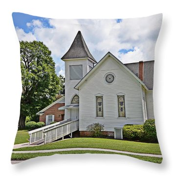 Throw Pillow featuring the photograph Mcdowell Presbyterian by Linda Brown