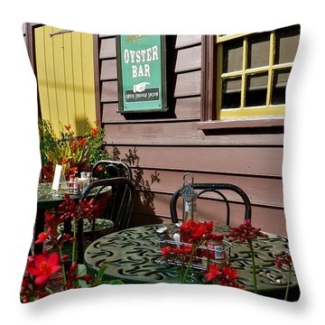 Mcgarvey's Saloon And Oyster Bar Throw Pillow